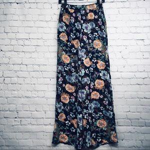 Tobi Floral Dress Flow Wide Leg Pants Size Small S